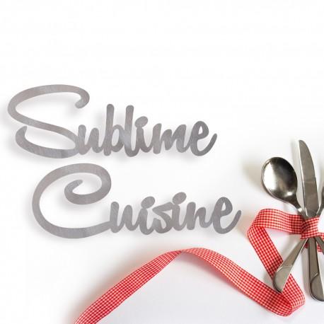 Sublime Cuisine - scritta decorativa