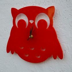 Gufo Acrilico Rosso