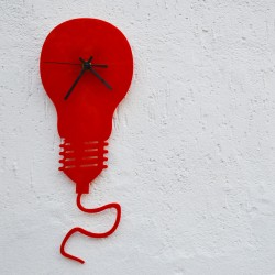 Lampadina Acrilico Rosso
